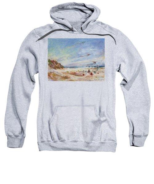 Beachy Day - Impressionist Painting - Original Contemporary Sweatshirt