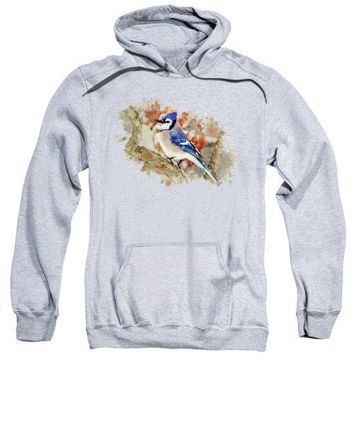 Beautiful Blue Jay - Watercolor Art Sweatshirt