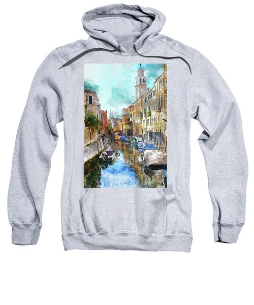 Beautiful Boats In Venice, Italy Sweatshirt