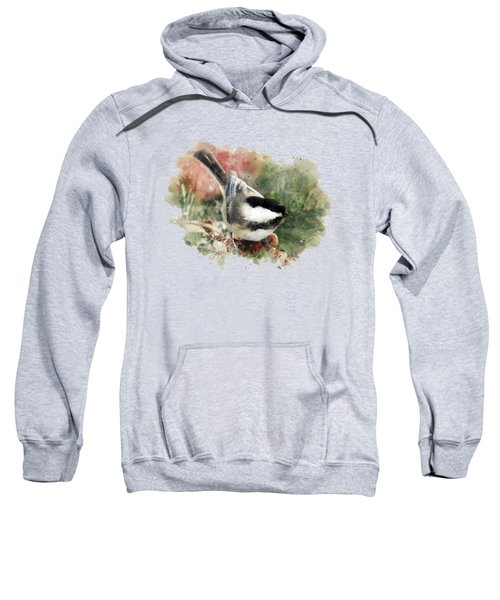Beautiful Chickadee - Watercolor Art Sweatshirt