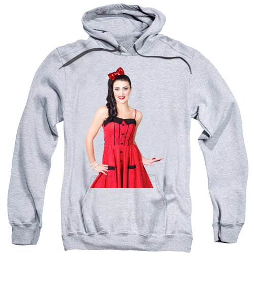 Sweatshirt featuring the photograph Beautiful Pinup Girl With Pretty Smile by Jorgo Photography - Wall Art Gallery