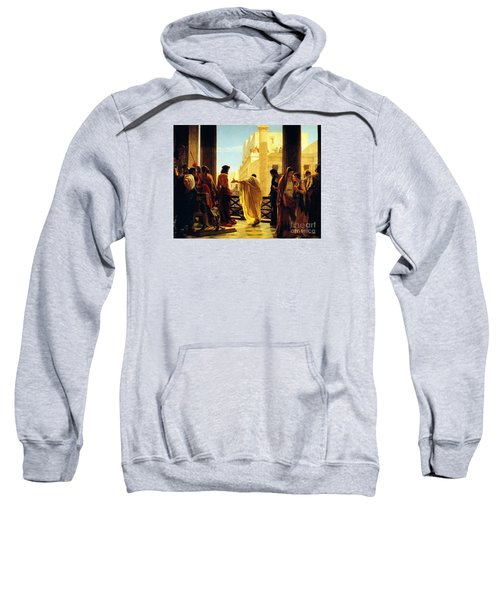 Sweatshirt featuring the painting Behold The Man by Celestial Images