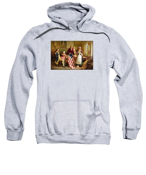 Betsy Ross And General George Washington Sweatshirt
