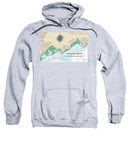 Beverly Cove Nautical Map Sweatshirt