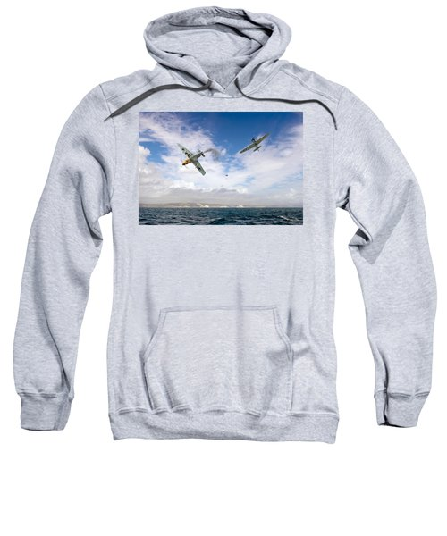 Sweatshirt featuring the photograph Bf109 Down In The Channel by Gary Eason
