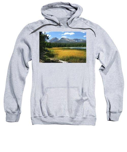 Sweatshirt featuring the photograph Autumn At Bierstadt Lake by David Chandler
