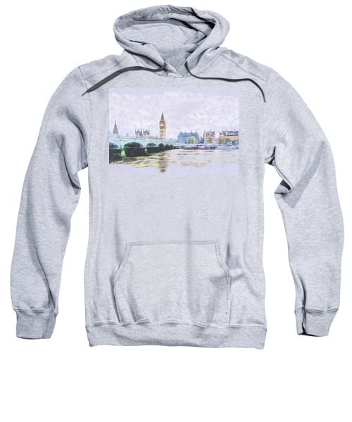 Big Ben And Westminster Bridge London England Sweatshirt
