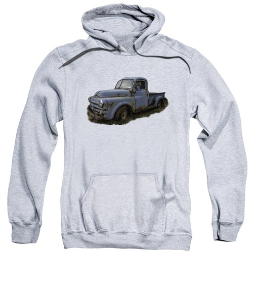 Big Blue Dodge Alone Sweatshirt by Debra and Dave Vanderlaan