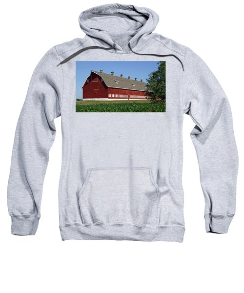 Big Red Barn In Spring Sweatshirt
