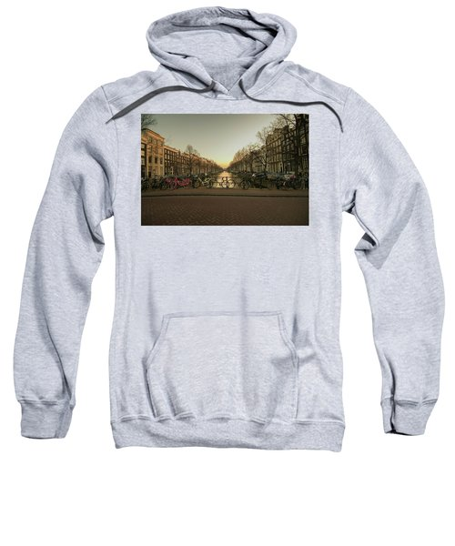 Bikes On The Canal Bridge Sweatshirt