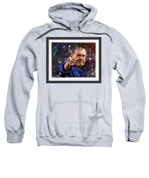 Bill Belichick In Snow  Sweatshirt