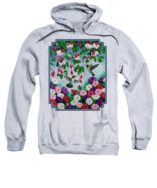Bird Painting Hummingbird And Spring Flowers Sweatshirt