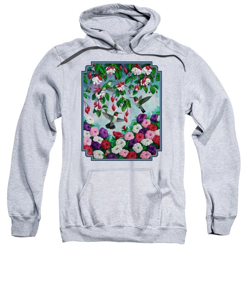 Bird Painting - Hummingbird Heaven Sweatshirt