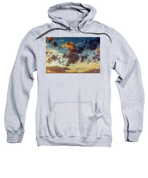 Birds In Flight At Sunset Sweatshirt