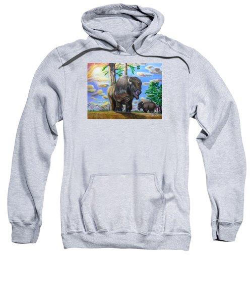 Bison Acrylic Painting Sweatshirt