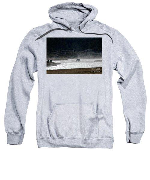 Bison In The River Sweatshirt