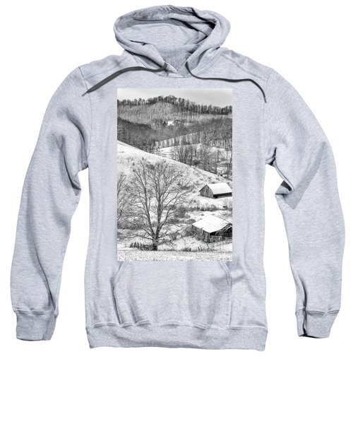 Black And White In Winter Sweatshirt