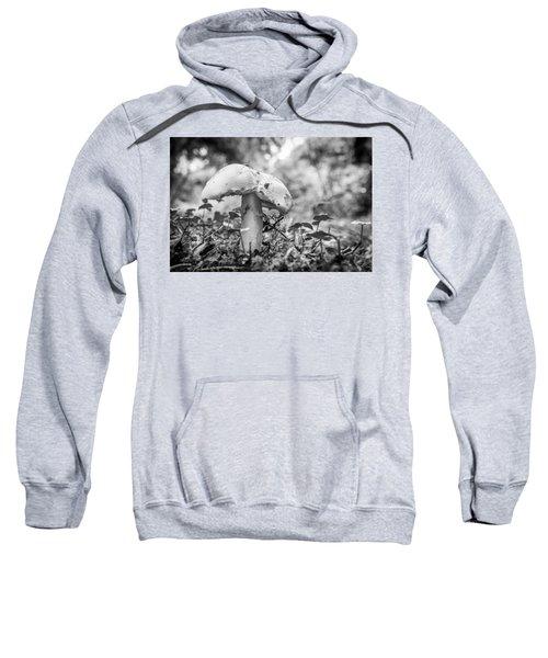 Black And White Mushroom. Sweatshirt