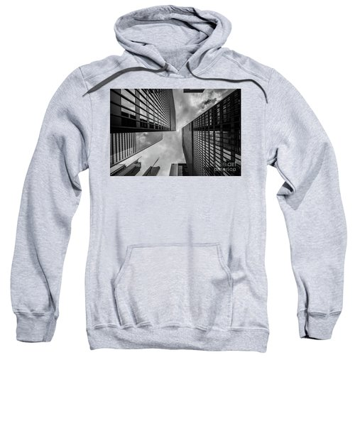 Sweatshirt featuring the photograph Black And White Skyscraper by MGL Meiklejohn Graphics Licensing