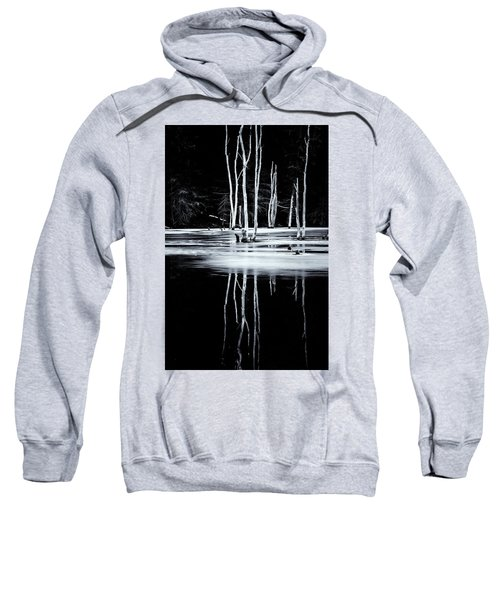 Black And White Winter Thaw Relections Sweatshirt