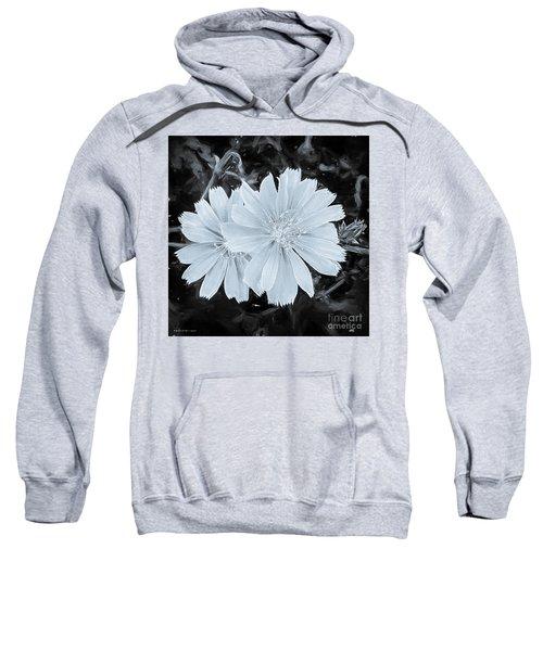 Blue Daisy Twins Bw Sweatshirt