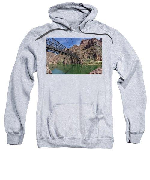 Black Bridge Over The Colorado River At Bottom Of Grand Canyon Sweatshirt