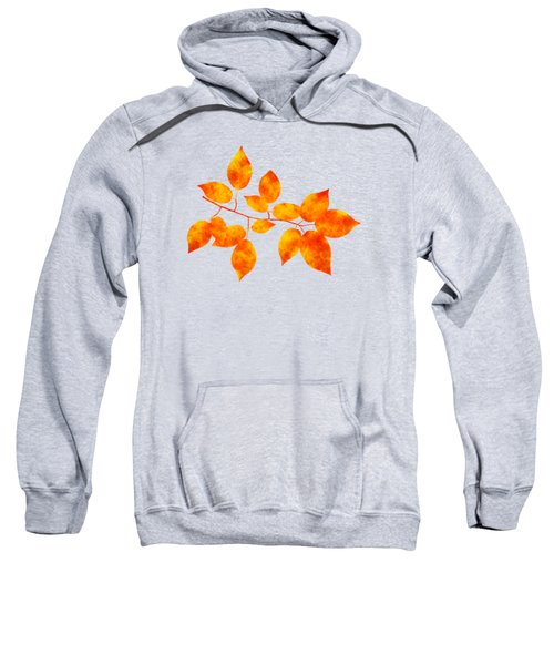Black Cherry Pressed Leaf Art Sweatshirt by Christina Rollo
