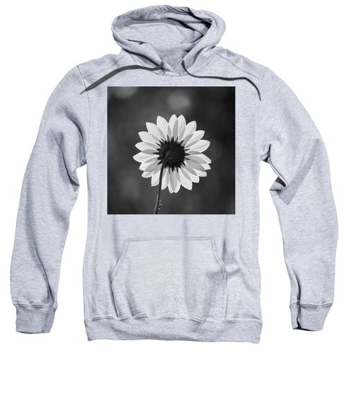 Sweatshirt featuring the photograph Black-eyed Susan - Black And White by Stephen Holst