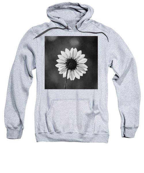 Black-eyed Susan - Black And White Sweatshirt