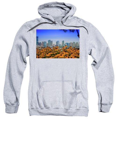 Black Eyed Susans In Battery Park Sweatshirt