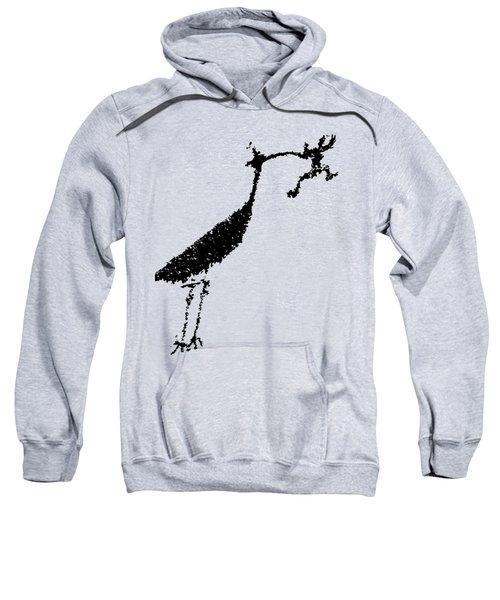 Black Petroglyph Sweatshirt by Melany Sarafis