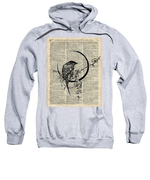 Black Raven Bird Sweatshirt