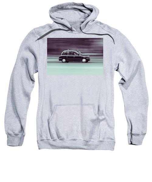 Black Taxi Bw Blur Sweatshirt