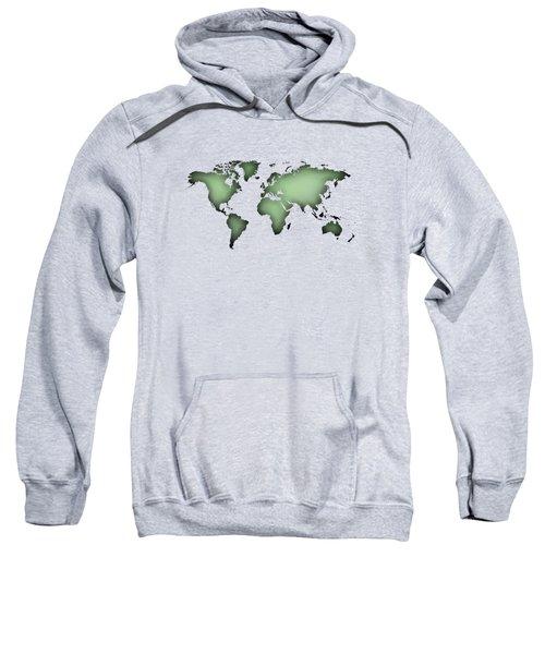 Black Worldmap Over Backlight  Sweatshirt