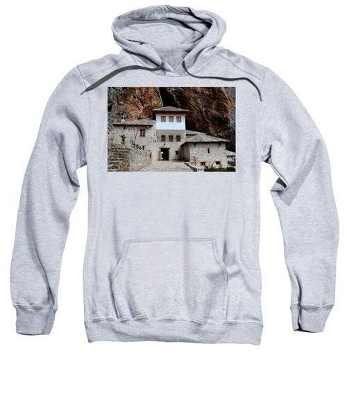 Blagaj Sufi Muslim Dervish Stone Monastery Structure Bosnia Herzegovina Sweatshirt