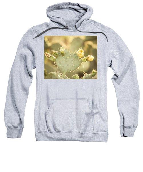 Blooming Prickly Pear Cactus Sweatshirt