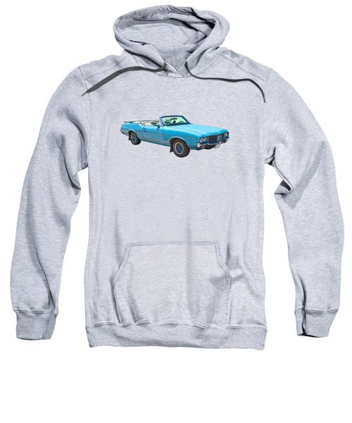 Blue 1971 Oldsmobile Cutlass Supreme Convertible Sweatshirt