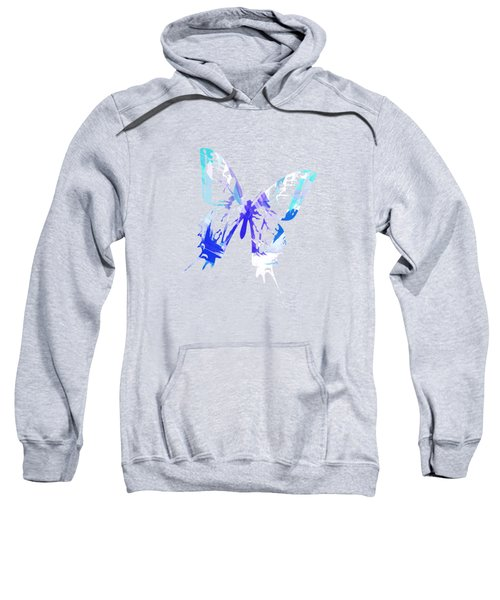 Blue Abstract Paint Pattern Sweatshirt