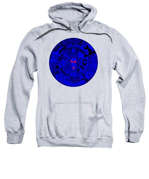 Blue Alien Mandala Sweatshirt