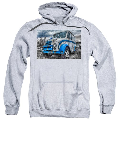 Blue And White Divco Sweatshirt