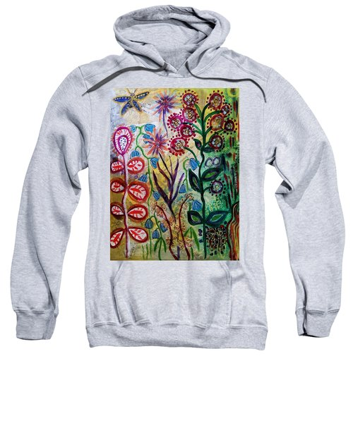 Blue Bug In The Magic Garden Sweatshirt