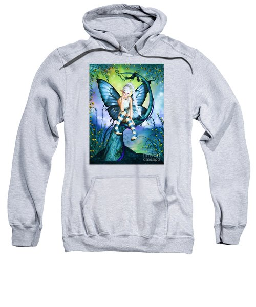Blue Butterfly Fairy In A Tree Sweatshirt