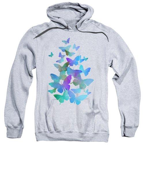 Blue Butterfly Flutter Sweatshirt