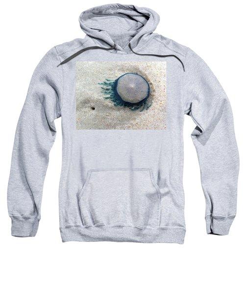 Blue Button #2 Sweatshirt