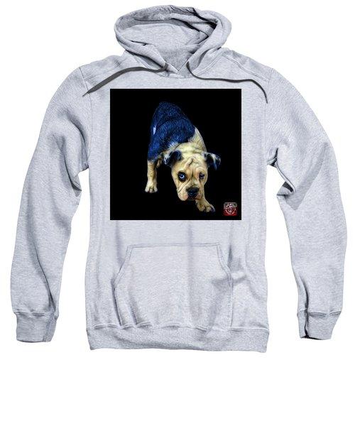 Blue English Bulldog Dog Art - 1368 - Bb Sweatshirt