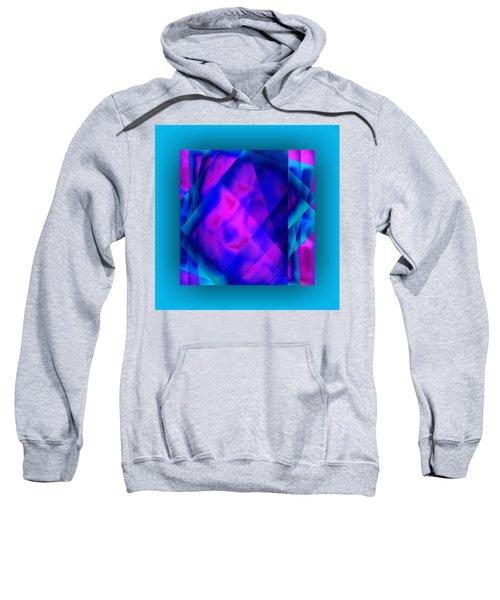 Sweatshirt featuring the digital art Blue Fashion by Mihaela Stancu