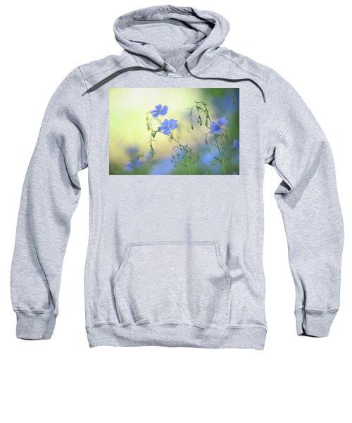 Blue Flex Flower Sweatshirt