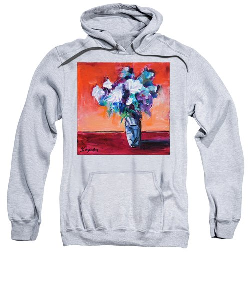 Blue Flowers In A Vase Sweatshirt