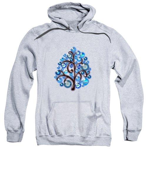 Blue Glass Ornaments Sweatshirt