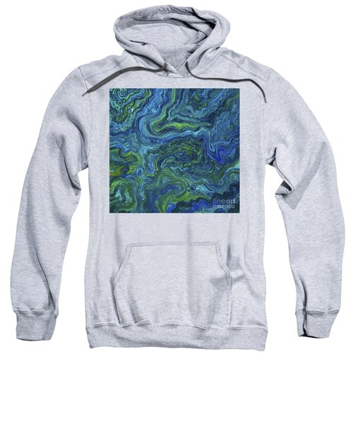 Blue Green Texture Sweatshirt